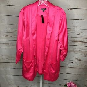 Lane Bryant Open Front Pink Jacket Size 18 New